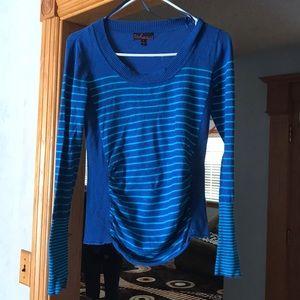 Blue striped long sleeve shirt